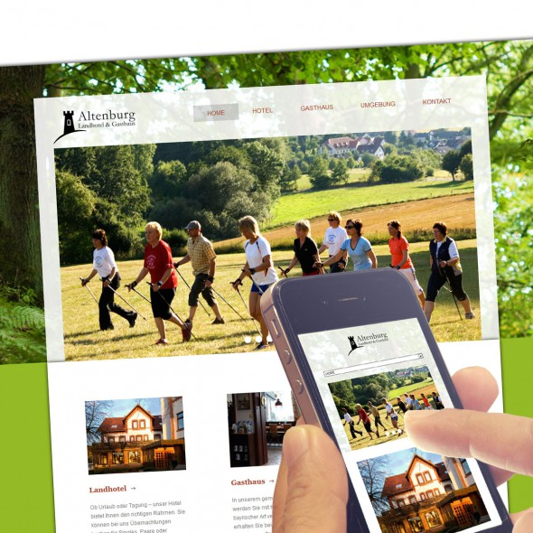 abraxis Webdesign: Beispiel Website Landhotel Altenburg, Responsive Design