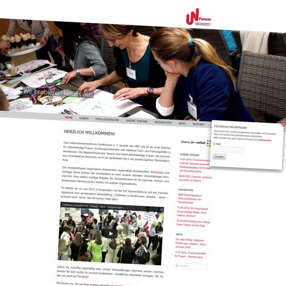 abraxis Webdesign: Beispiel Wordpress Website Unternehmerinnen Forum Nordhessen, Responsive Design